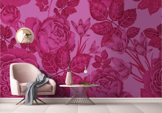 baccara I, love blossom, IPHEPHA - Das perfekte Wandkleid, Tapeten Online-Shop