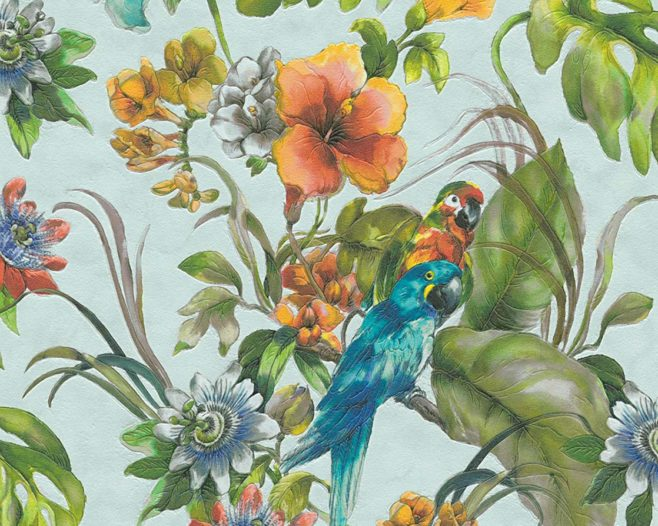 birds of paradies, wild thoughts, IPHEPHA - Das perfekte Wandkleid, Tapeten Online-Shop